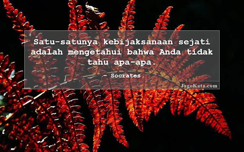 Socrates - Satu-satunya kebijaksanaan sejati adalah mengetahui bahwa Anda tidak mengetahui apa-apa.