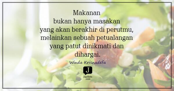 128 Kata Kata Makanan Jagokata